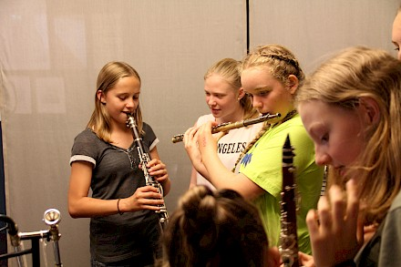 First tryouts on wind instruments